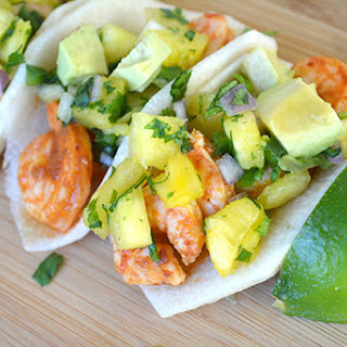 Chipotle Shrimp Jicama Tacos with Pineapple Salsa