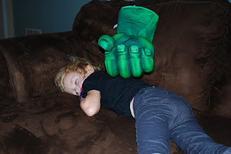 Photo: Too much super hero fun for this little one!