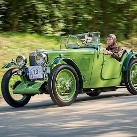 Old timer in green by Jiri Cetkovsky - Transportation Automobiles ( green, race, car, old timer, old )