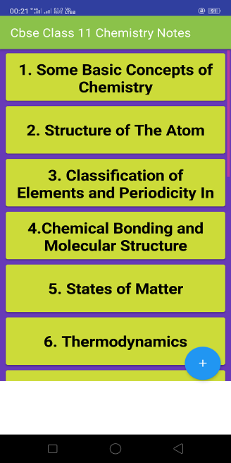 Class 11 Chemistry Notes & Study Materials 2019-20 – (Android 앱