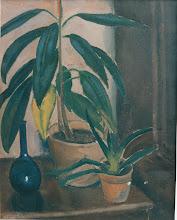 Photo: Stilleben mit Gummibaum, Öl auf Leinwand, 1946