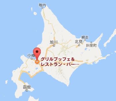 地図:グリルブッフェ&レストラン・バー オードリー