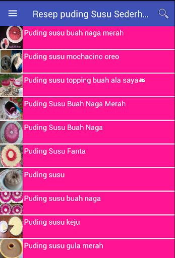 Resep Puding Susu Sederhana screenshot
