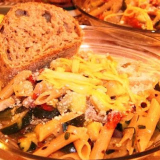 Penne Primavera With Smoked Gouda
