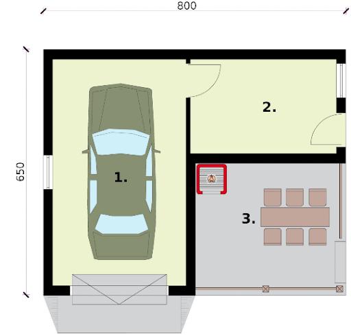 G264a - Rzut garażu