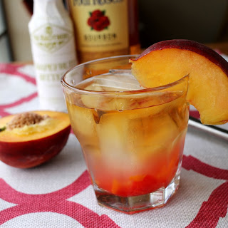 Peach Old Fashioned with Four Roses Bourbon #sponsored