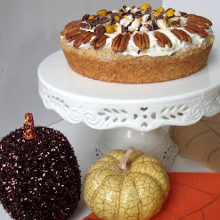 Spiced Apple Cake w/ M&M's® Pecan Pie Topping.