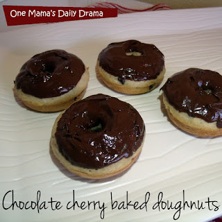 Chocolate Cherry Baked Doughnuts