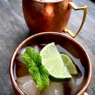 Classic Moscow Mule With Fresh Ginger Simple Syrup.