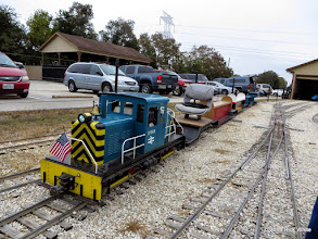 Photo: David James's loco with passenger cars.    HALS Public Run Day 2014-1115 RPW