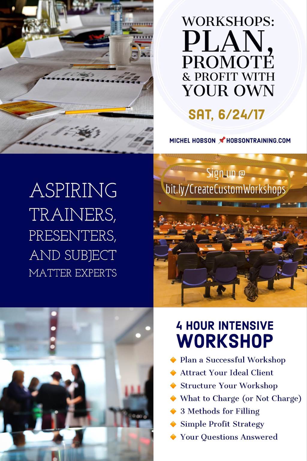 Workshops: Plan, Promote & Profit With Your Own