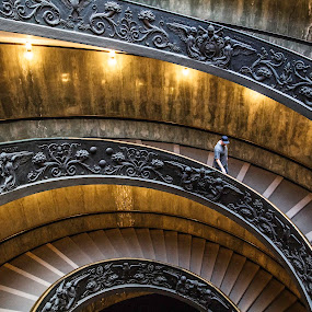 Vatican by Mark Richardson - Buildings & Architecture Public & Historical ( stairs, rome, 2015, spiral, vatican, italy )