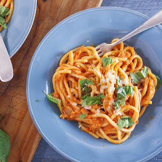 Pici with Fennel-Tomato Sauce.