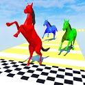 Horse Run Colours: Fun Race 3D Games icon