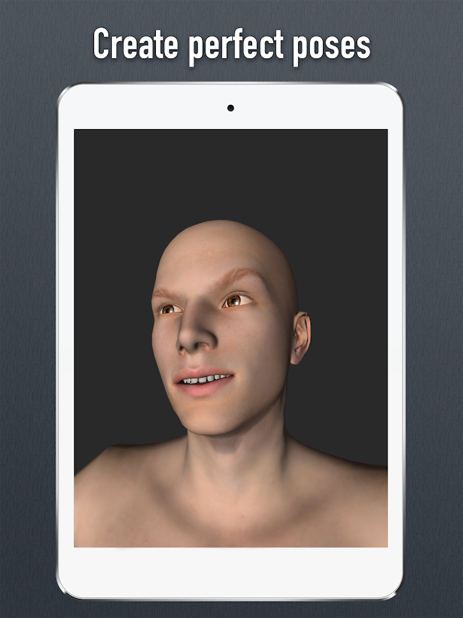 Face Model - 3D virtual human head pose tool- screenshot