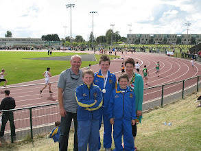 Photo: The Ryan brothers David, Daniel & Jack who all won Community Games National medals with their parents Jim & Aisling.
