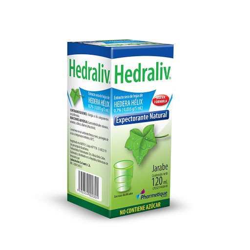 Hedera Helix Hedraliv Jarabe 0,7% x 120 mL Pharmacetique La Sante Jarabe 0,7% x 120 mL