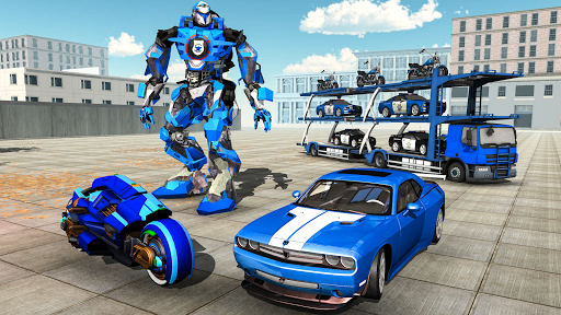 Download US Police Plane Robot Car Bike - Transporter Games