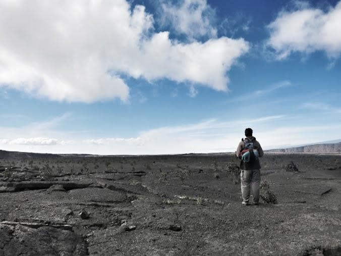 Bruno down in the Kilauea Caldera