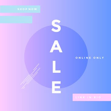 Ombre Online Only Sale - Instagram Post Template