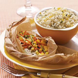 Confetti Flounder Packets with Orange-Tarragon Butter