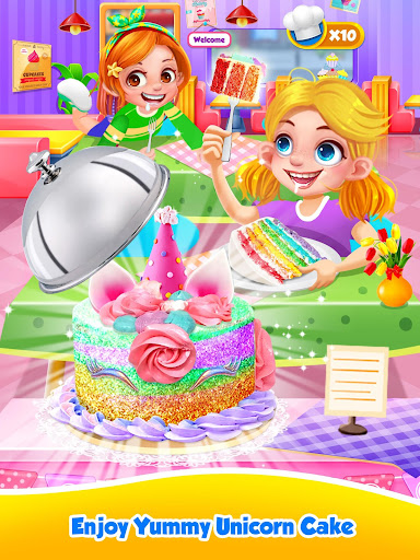 Unicorn Food - Sweet Rainbow Cake Desserts Bakery 2.7 screenshots 21