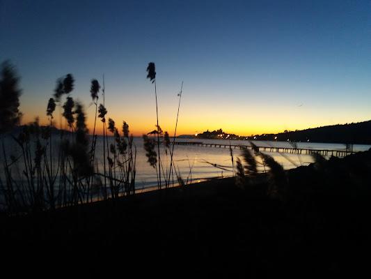 a cold February evening in Talamone di Mav