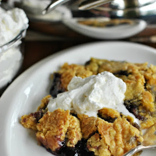 Lemon Blueberry Skillet Dump Cake.