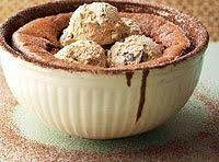 Hot Cocoa Souffle With Coffee Ice Cream Recipe