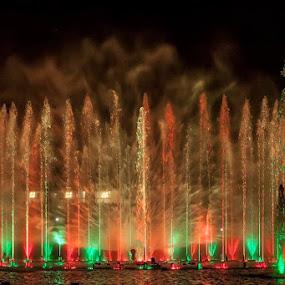 Light and water by Aleksander Cierpisz - City,  Street & Park  Fountains (  )