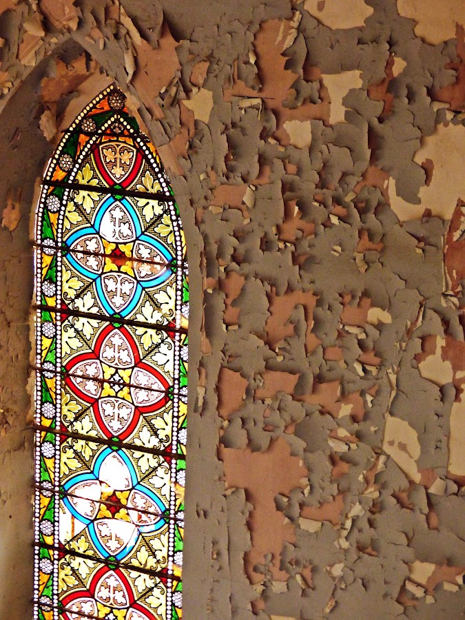 Old window by Florence Guichard - Buildings & Architecture Decaying & Abandoned ( le passé dans l'objectif, urban, urbex, old, church, france, paint, decay, peeling, exploration, abandoned )