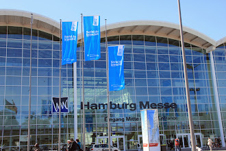 Photo: The entrance to the vast Exhibition Halls where much of the Kirchentag took place
