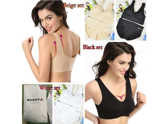 Set Bra Celana Munafie set bra dan celana dalam pelangsing pembentuk tubuh munafie mengencangkan payudara membentuk lekukan