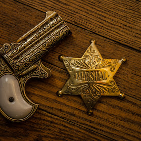 Wild West: Safety first... Marshall Style by Florin Marksteiner - Artistic Objects Antiques ( protection, small gun, marshall star, single-action, william elliot, two-shot,  )
