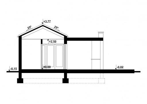 G192 - Budynek rekreacyjny - Przekrój