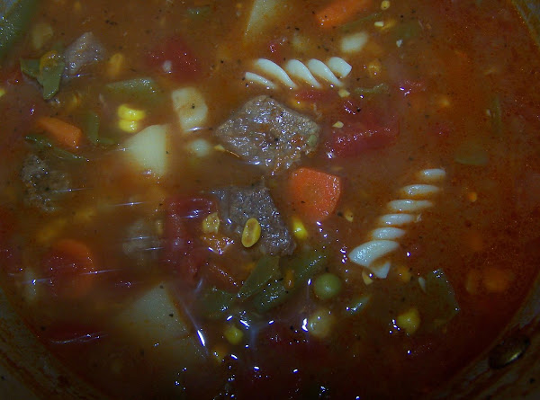 Gail's Homemade Vegetable Beef Soup Recipe