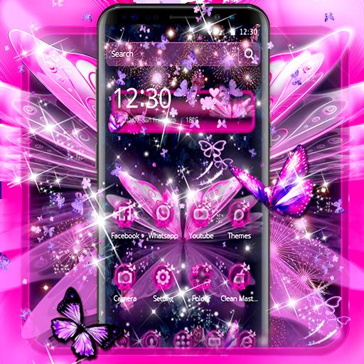 Dreamy Purple Butterfly Theme
