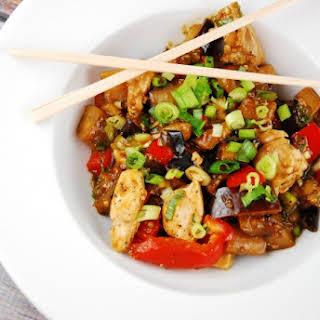 Chicken and Eggplant Stir Fry.