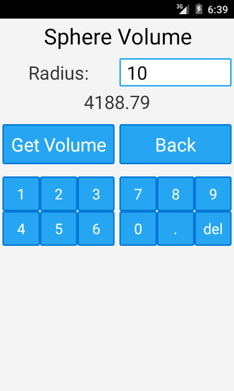 Area and Volume Calculator- screenshot