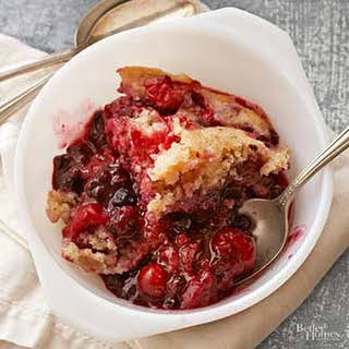 Mixed Berry Pudding Cake.
