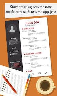 create professional resume cv screenshot thumbnail