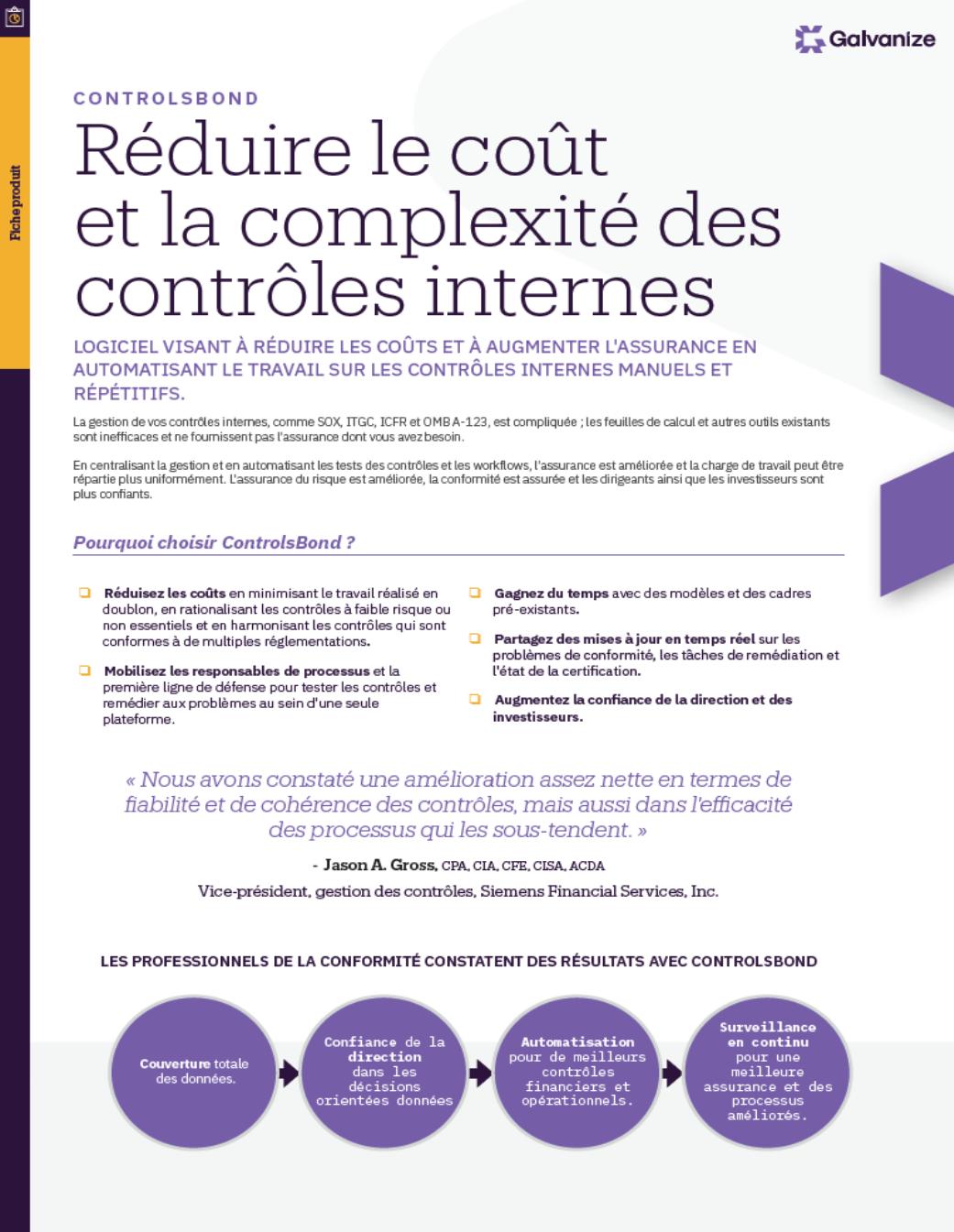 Réduire le coût et la complexité des contrôles internes