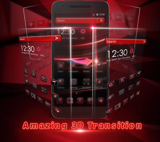 Dark Red Launcher 5.31.10 screenshots 7