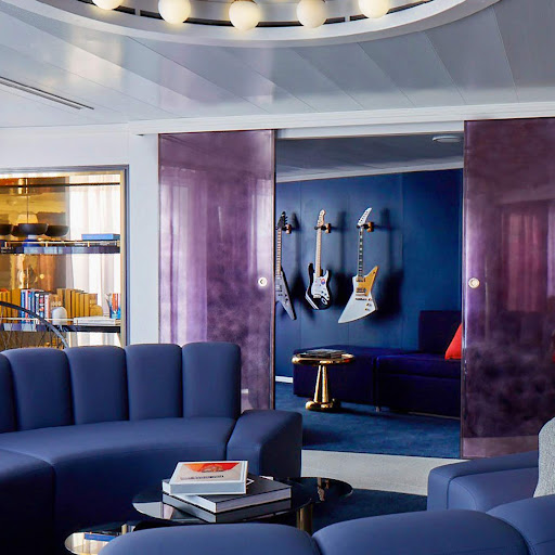 A top-of-the-line suite on Scarlet Lady from Virgin Voyages.