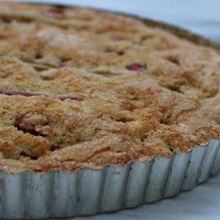 Rhubarb Almond Cake