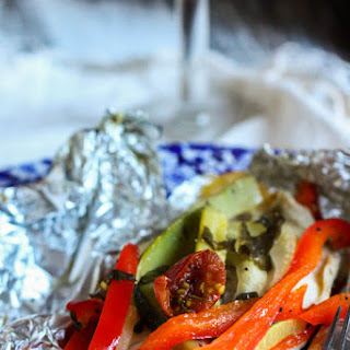 Foil-Baked Fish with Summer Veggies.