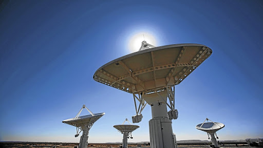Dishes in the MeerKAT radio telescope array at Carnarvon in the Karoo. Picture: HALDEN KROG