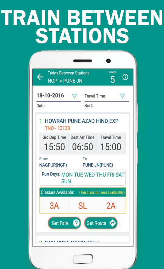VRail - PNR Status and Trains- screenshot