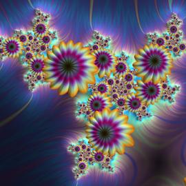 Flowers 5 by Cassy 67 - Illustration Abstract & Patterns ( wallpaper, digital art, bloom, harmony, fractalart, flowers, fractal, digital, fractals, floral, blossom, flower )