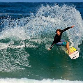 Sunshine spray by Julie Steele - Sports & Fitness Surfing ( spray, surfing, steele, wave, sunshine )